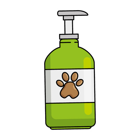 pet shampoo bottle icon vector illustration design 向量圖像