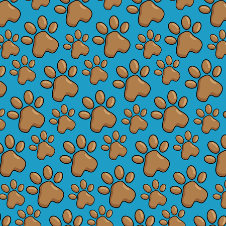 footprint paw mascot pattern background vector illustration design
