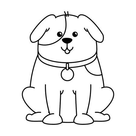 cute dog mascot character vector illustration design Illustration