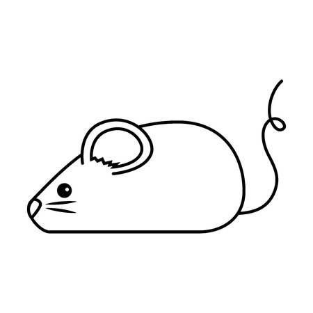 cute mouse isolated icon vector illustration design