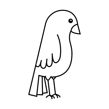 Niedlicher Vogel isoliert Symbol Vektor-Illustration , Design , Standard-Bild - 96043268