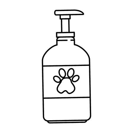 pet shampoo bottle icon vector illustration design Stock Illustratie