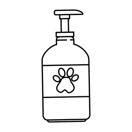 pet shampoo bottle icon vector illustration design 일러스트