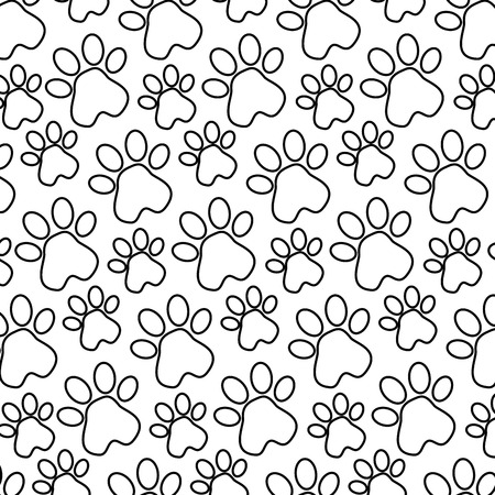 フットプリントポーマスコットパターン背景ベクトルイラストデザイン