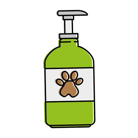 pet shampoo bottle icon vector illustration design Vectores
