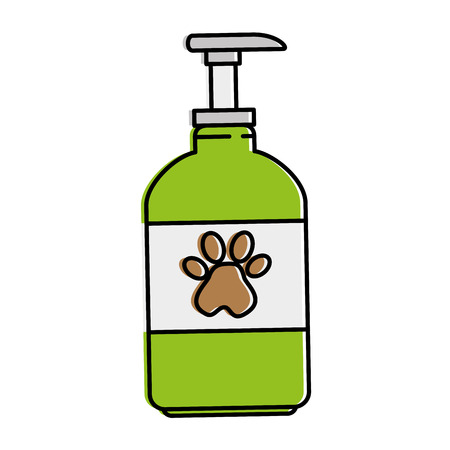 pet shampoo bottle icon vector illustration design Illustration