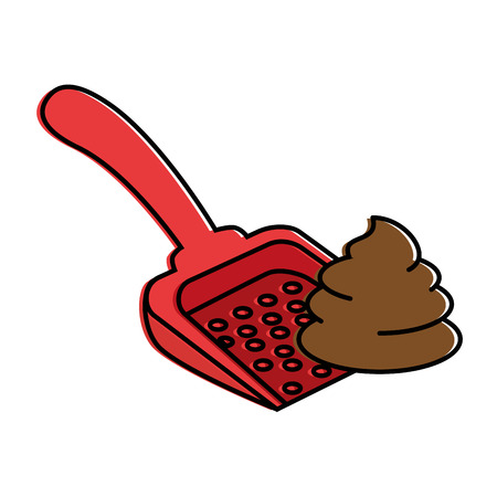 shovel to collect pet waste vector illustration design