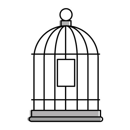 Käfig Vogel leere Symbol Vektor-Illustration Design Standard-Bild - 96044153