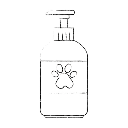 pet shampoo bottle icon vector illustration design Çizim