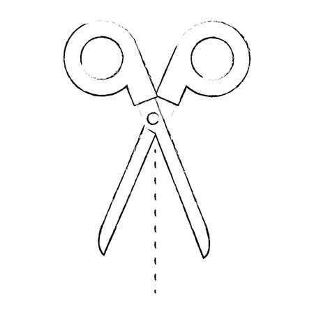scissors tool isolated icon vector illustration design Illusztráció