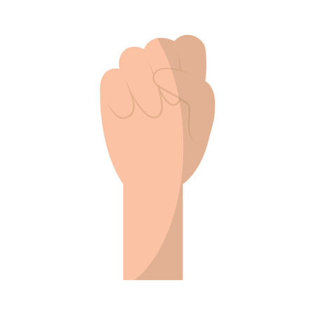 human hand fist held gesture icon vector illustration 版權商用圖片 - 96046691