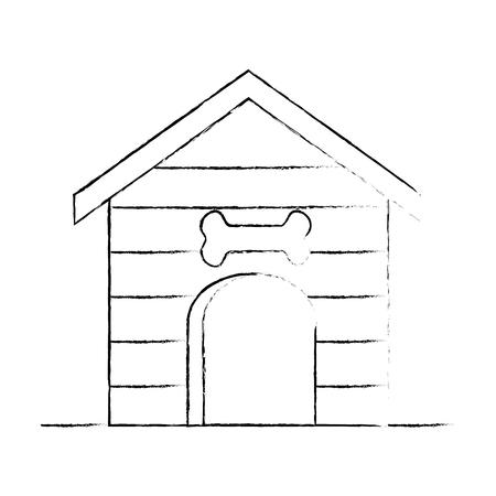 Animal en bois maison icône vecteur illustration design Banque d'images - 96046925