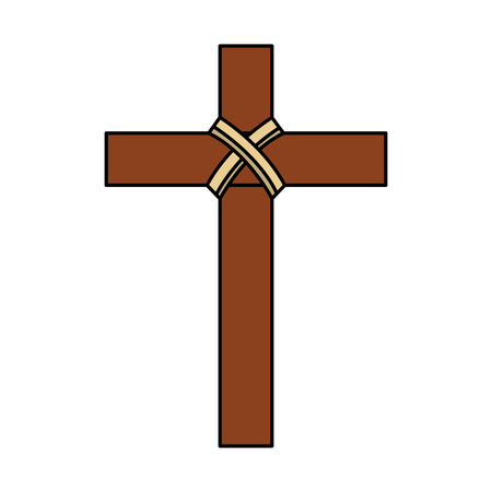 religious wooden cross christianity symbol vector illustration Stock Vector - 96046996