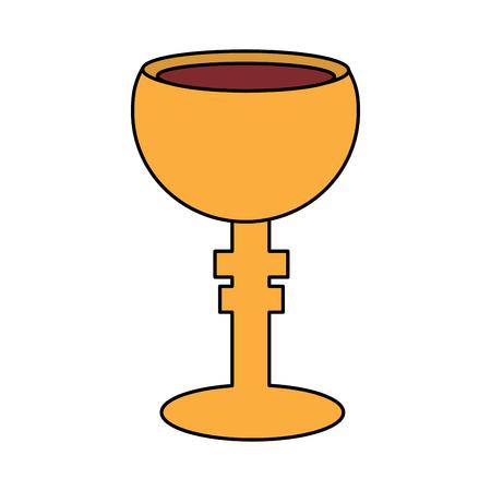 legendary christian bowl holy grail vector illustration