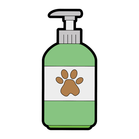 pet shampoo bottle icon vector illustration design Çizim