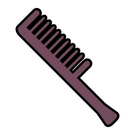 progettazione dell'illustrazione di vettore dell'icona dello strumento del barbiere di pettine