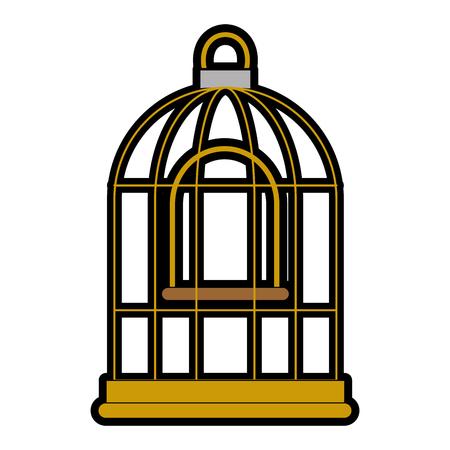 cage bird empty icon vector illustration design Stok Fotoğraf - 96047059
