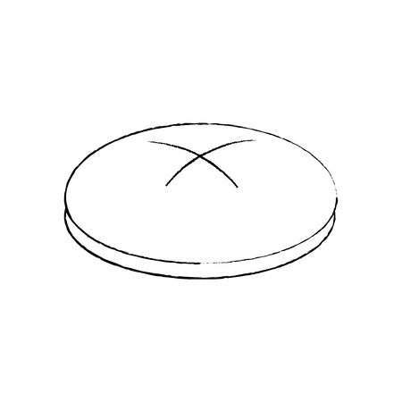 bread round loaf served as a meal accompaniment vector illustration sketch design Ilustrace