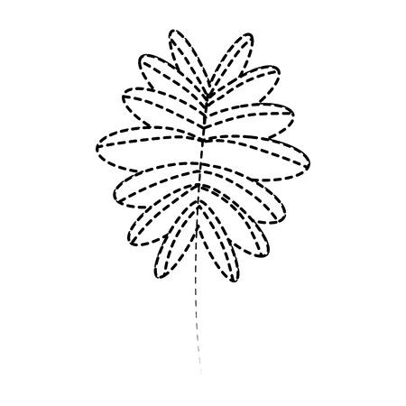 plant leaf icon image vector illustration design  black dotted line 向量圖像