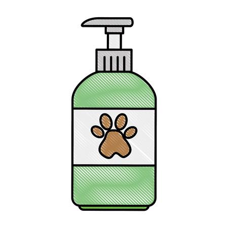 Haustier Shampoo Flasche Symbol Vektor-Illustration , Design , Standard-Bild - 96052751