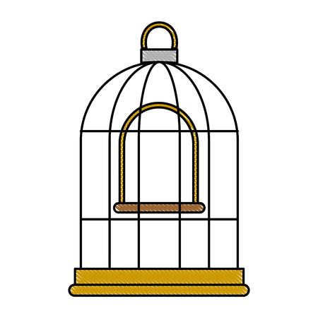 Käfig Vogel leere Symbol Vektor-Illustration Design Standard-Bild - 96047344