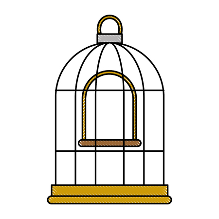 cage bird empty icon vector illustration design