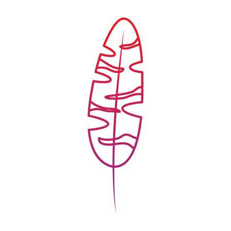 plant leaf icon image vector illustration design  red to purple line
