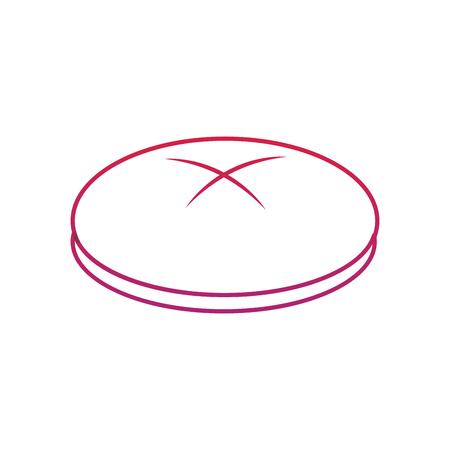round bread icon image vector illustration design  red to purple line 向量圖像