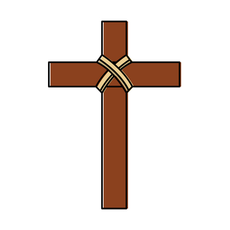 cross christian catholic paraphernalia  icon image vector illustration design   イラスト・ベクター素材