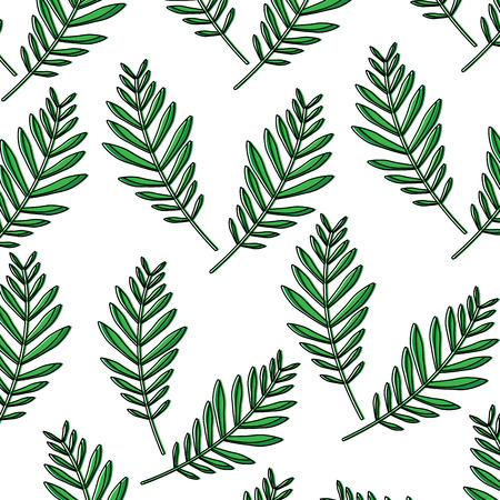 plant leaf pattern image vector illustration design  Illustration