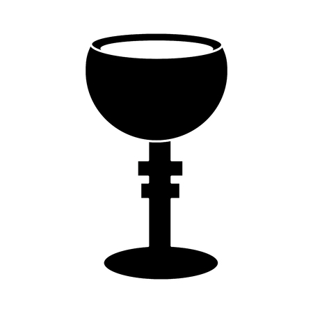 Chalice cup icon image vector illustration design black and white