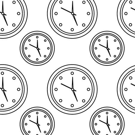wall clock icon image vector illustration design  black line