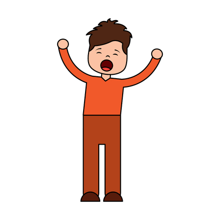 man screaming icon image vector illustration design