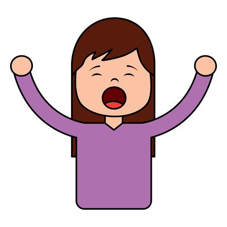 woman screaming icon image vector illustration design 写真素材 - 96054358