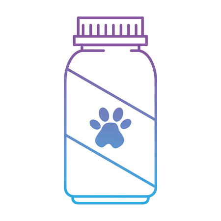 mascot vitamins bottle with footprint vector illustration design