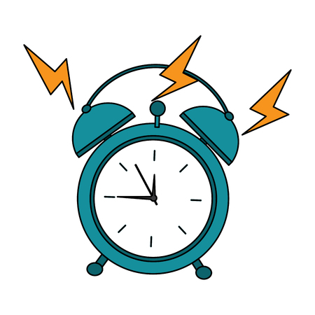 alarm clock ringing  icon image vector illustration design  Stock Illustratie