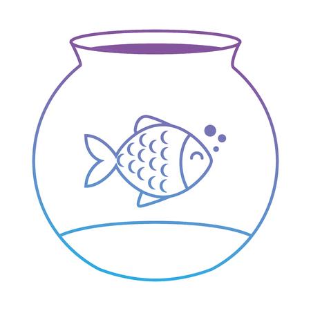 Peces mascota linda en acuario ilustración vectorial de diseño Foto de archivo - 96056715