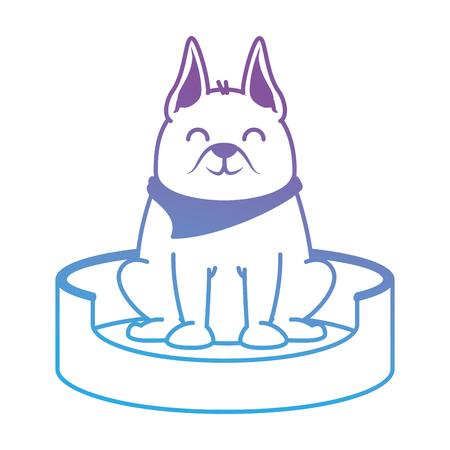 Perro lindo en el diseño de ilustración de vector de mascota de patinaje Foto de archivo - 96054140