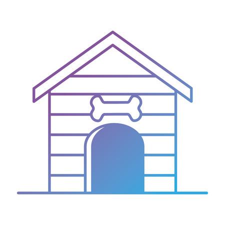 Wooden pet house icon vector illustration design Illustration