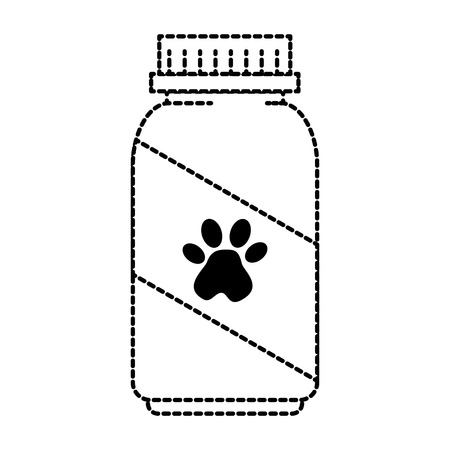 mascot vitamins bottle with footprint vector illustration design