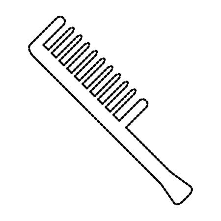 comb barber tool icon vector illustration design