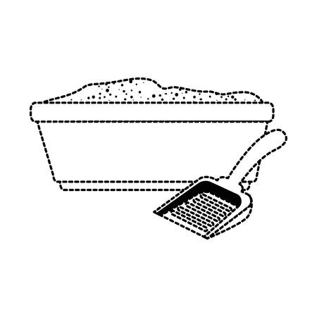 Chat de chat avec pelle illustration vectorielle conception Banque d'images - 96056400