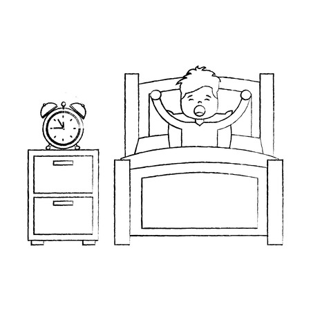 child boy sleeping in their room icon image vector illustration design. 版權商用圖片 - 96056404