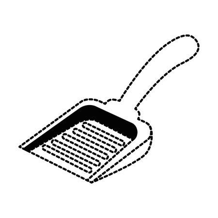 ペット廃棄物ベクトルイラストデザインを収集するためのシャベル
