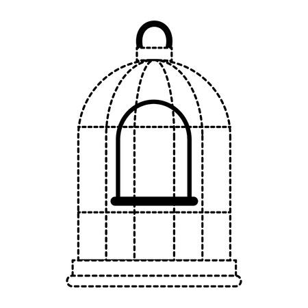 ケージ鳥空のアイコンベクトルイラストデザイン