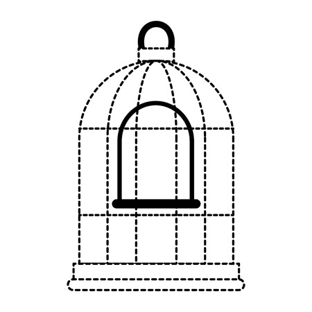 cage bird empty icon vector illustration design Stok Fotoğraf - 96054663