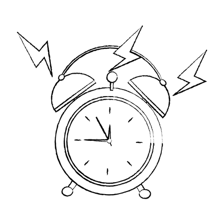 alarm clock ringing icon image vector illustration design.