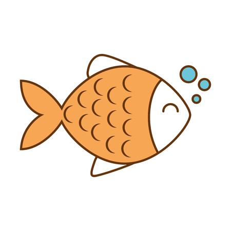 Cute fish pet character vector illustration design