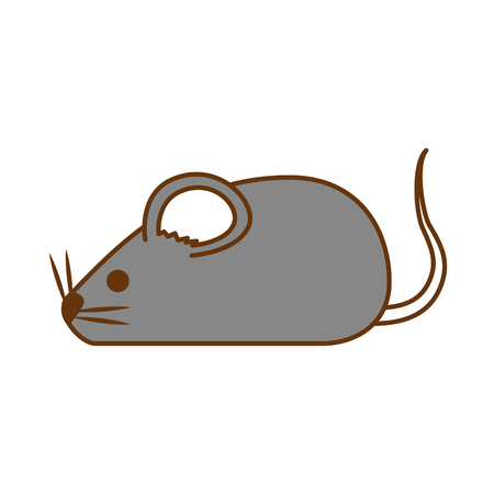 Cute mouse isolated icon vector illustration design 向量圖像
