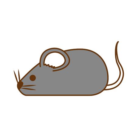 Cute mouse isolated icon vector illustration design Ilustração